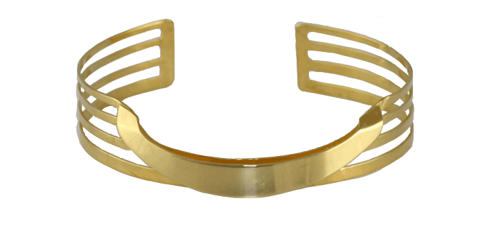 RIPPLES BANGLE SAUGHT $89.90 USD Made in Cambodia from war remnants and is plated in 18K gold