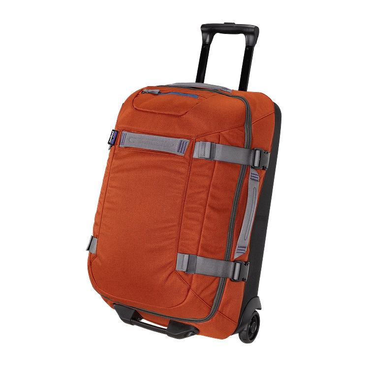 60L TRANSPORT ROLLER PATAGONIA $379 USD Water repellent recycled twill fabric makes this a durable travel companion