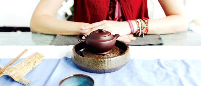 The Tea Sommelier Anne Carole Chaumet presented a beautiful tea ceremony of the Chinese tradition.