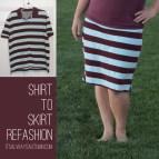 DIY Shirt to Skirt Refashion
