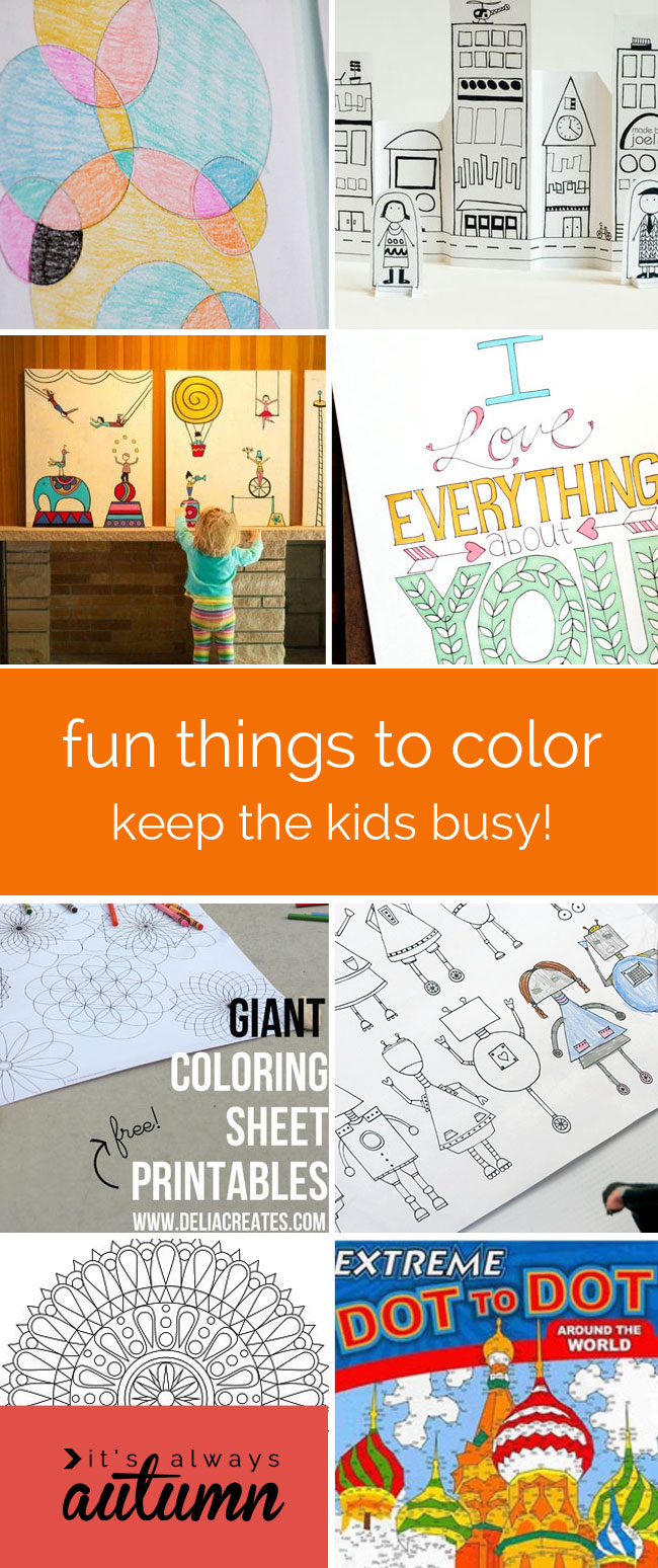 20 awesome things to color  fun for kids  Its Always Autumn
