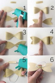 easy diy hair bow elastics great