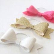 easy diy hair bow elastics great