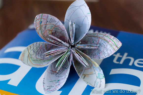 Origami Flower Free Diagram Embroidery Origami