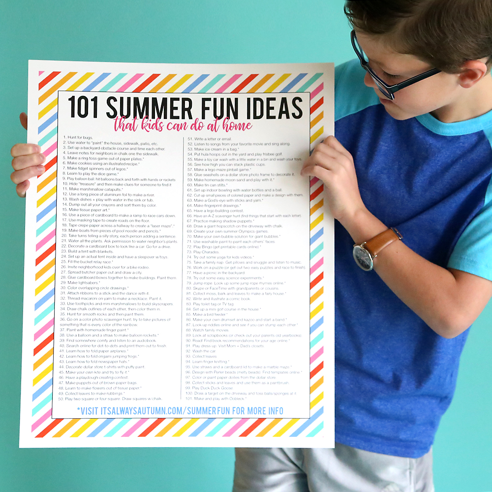 101 summer fun ideas that kids can do at home  Its