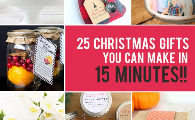25 Easy Homemade Christmas Gifts You Can Make In 15