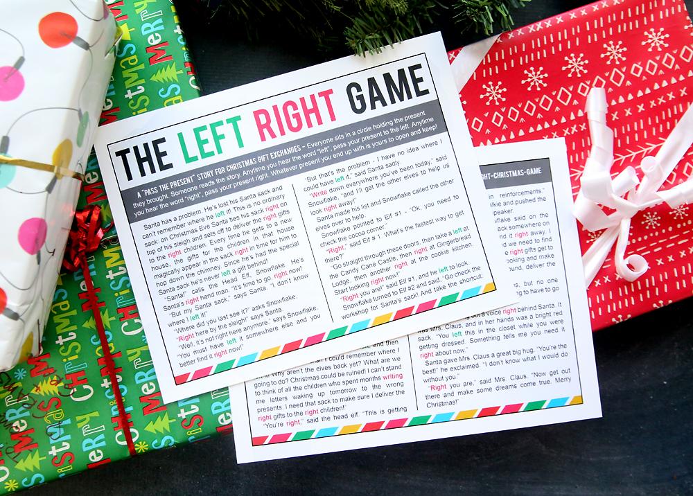 Pass The Gift Game For Christmas