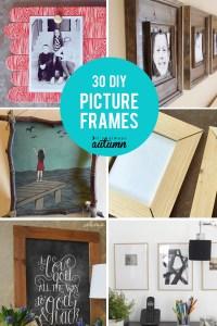 20 best DIY picture frame tutorials - It's Always Autumn