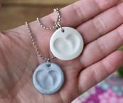 how to make thumbprint jewelry