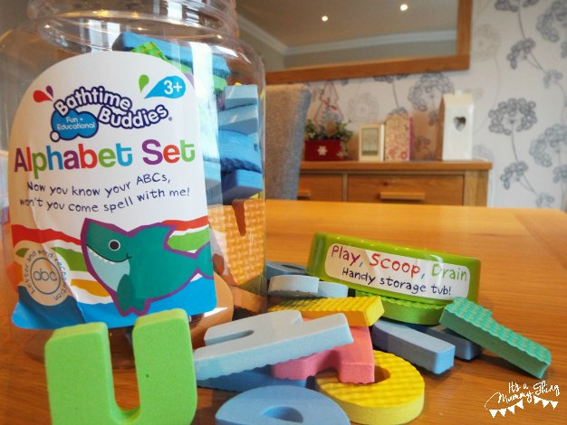 Photo of box with alphabet letter set