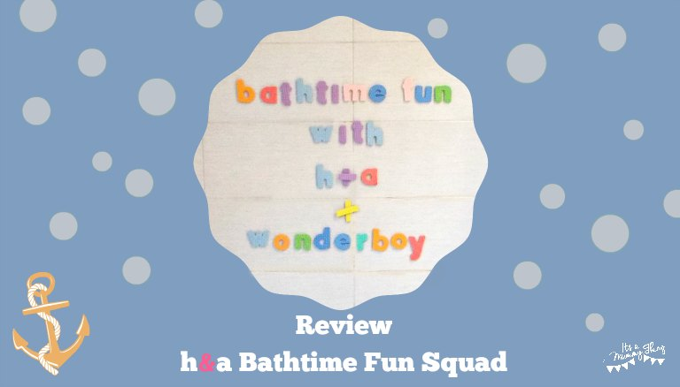 Photo of bathtime letter set spelling - Bathtime Fun with h&a and Wonderboy