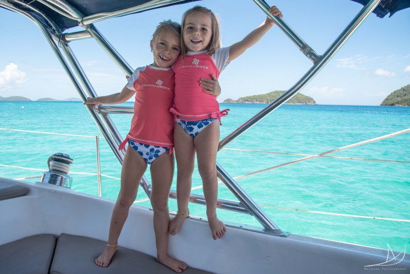 the girls on our sailboat