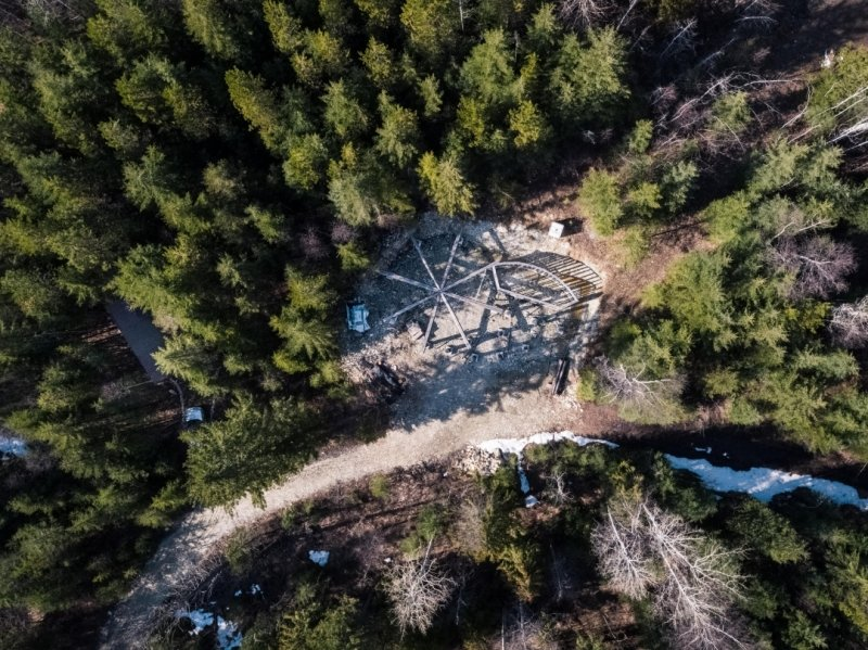 yurt site from above
