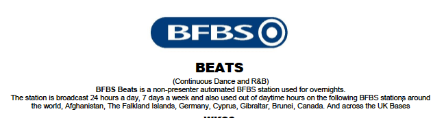 BFBS Radio Beats Station