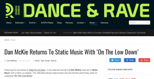 danceandrave.com review Dan McKie On The Lowdown