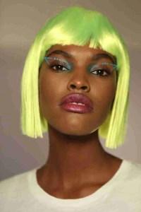yellow wig