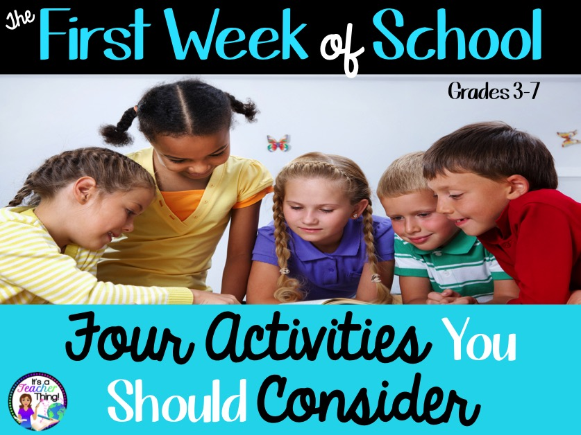First week of school activities for upper grade & middle school classrooms