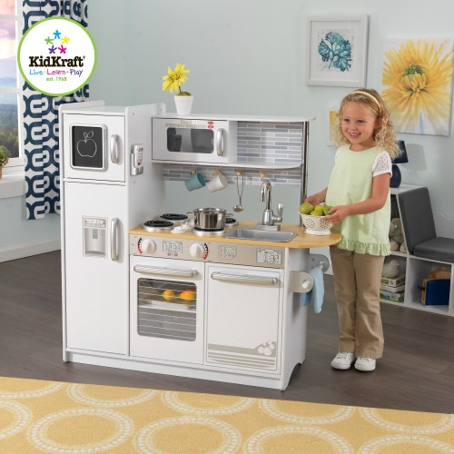 Kidkraft Uptown White Kitchen  Wooden Play Kitchens  UK