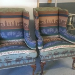 Where To Get Chairs Reupholstered Accent Chair Blue Cabin It 39s Bout Time Upholstery