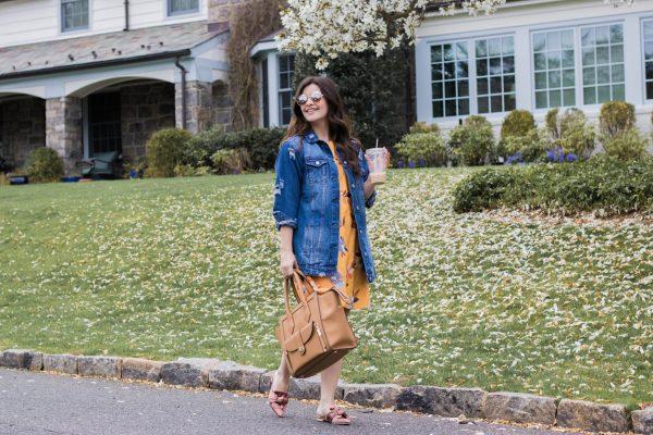 Oversized Distressed Denim Jacket - The Distressed Denim Jacket by popular New York fashion blogger The Champagne Edit