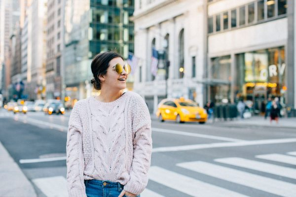 Aeropostale Jeans With Cozy Sweater - A Night Out With Aeropostale And My Best Denim Jeans Ever by NYC fashion blogger The Champagne Edit