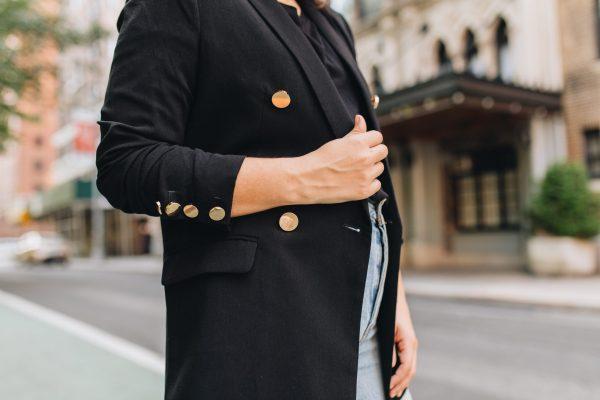 Styling A Black Blazer With Denim; Levi's Jeans