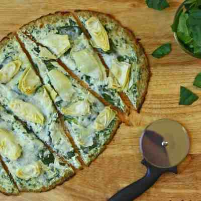 Spinach Artichoke Low Carb Pizza