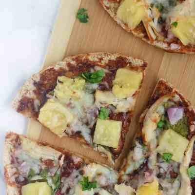 Hawaiian Barbecue Chicken Pizzas