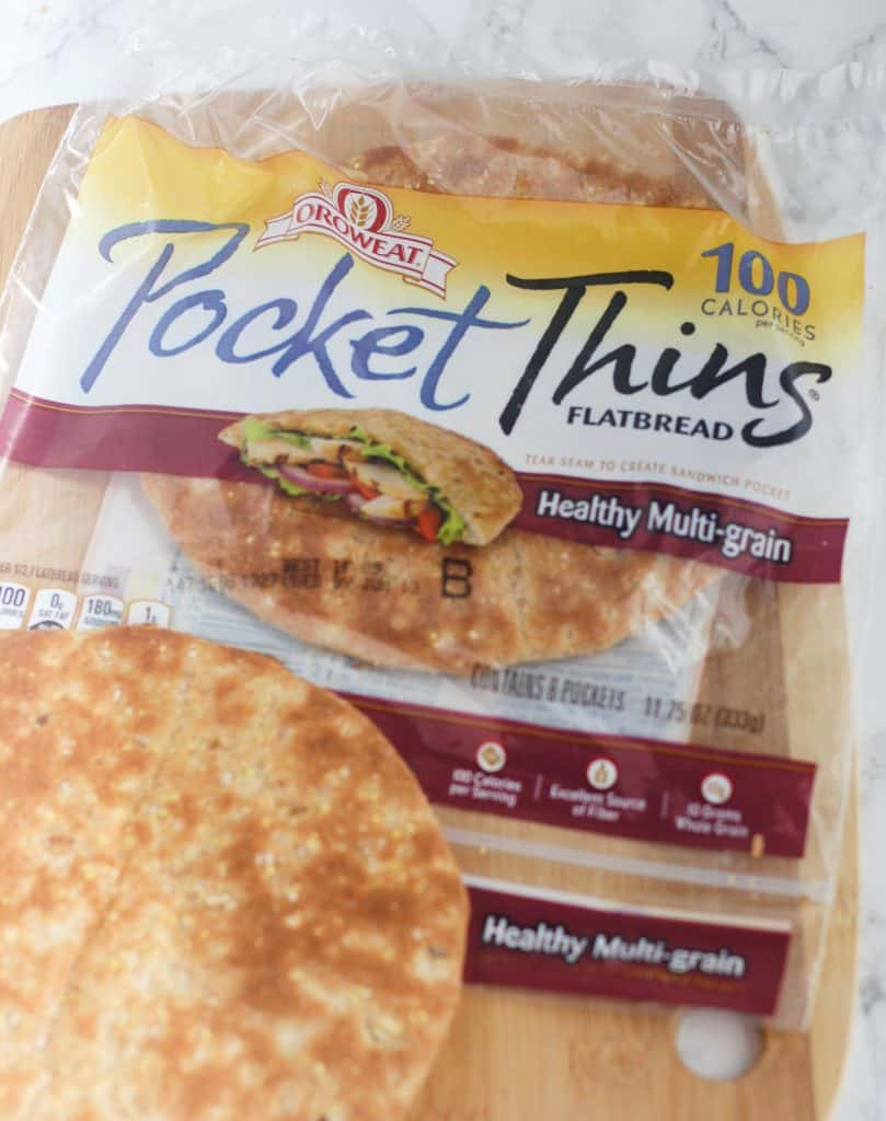 Oroweat Pocket Thins make a perfect low calorie pizza crust! It's Cheat Day Everyday