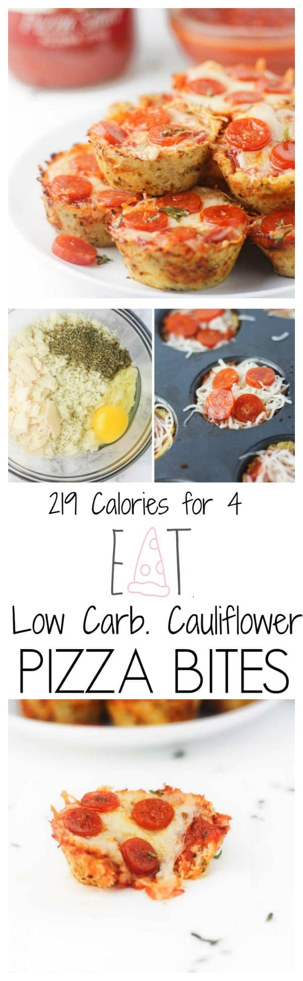 Low Carb Cauliflower Pizza Bites - It\'s Cheat Day Everyday