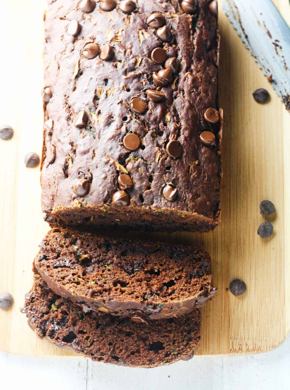 Double Chocolate Chip Zucchini Bread - It's Cheat Day Everyday