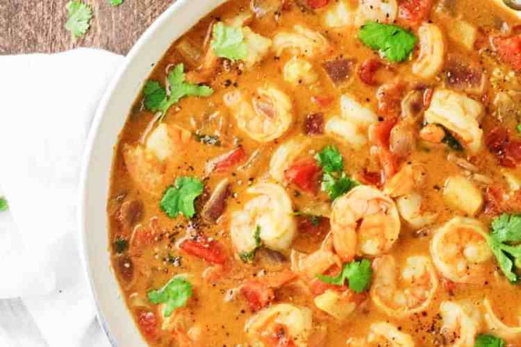 One Pan Honey Coconut Shrimp Curry