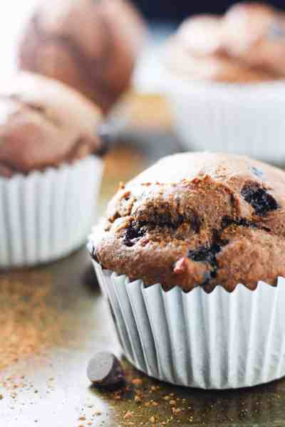 Double Chocolate Chip Protein Muffins