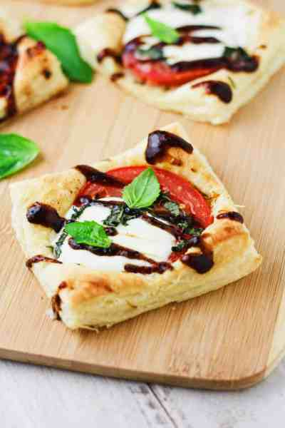 Balsamic Caprese Mini Tarts