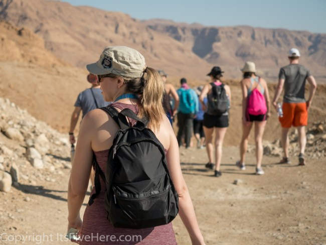 Hiker Julianne in Masada, Israel