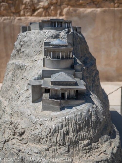 Model of what King Herod's palace complex originally looked like