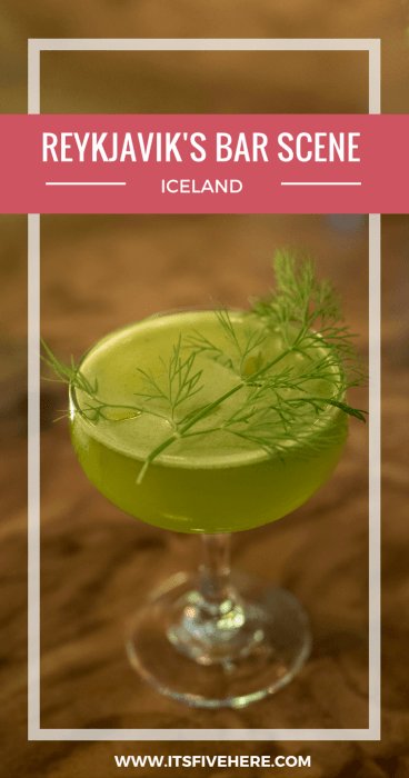 Did Reykjavik, Iceland's capital, make the cut when it comes to having an awesome bar scene? The answer, it turns out, is more complex than we expected.