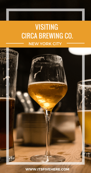 Circa Brewing Co. opened in downtown Brooklyn, New York, less than a month ago, but people are already fans of its craft beer and pizza. Here's why.