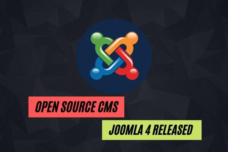 Open Source CMS Joomla 4 has been released