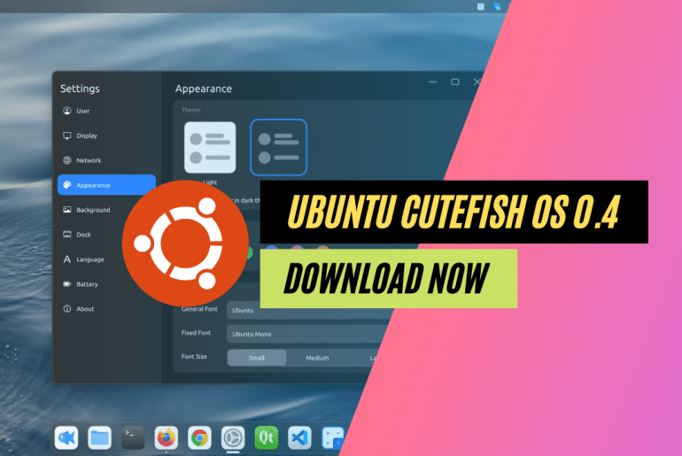 Ubuntu Based CutefishOS 0.4 Download and Test