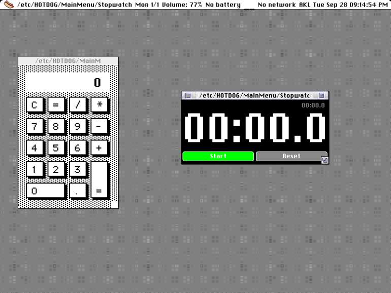 HOTDOG Linux for retro fans