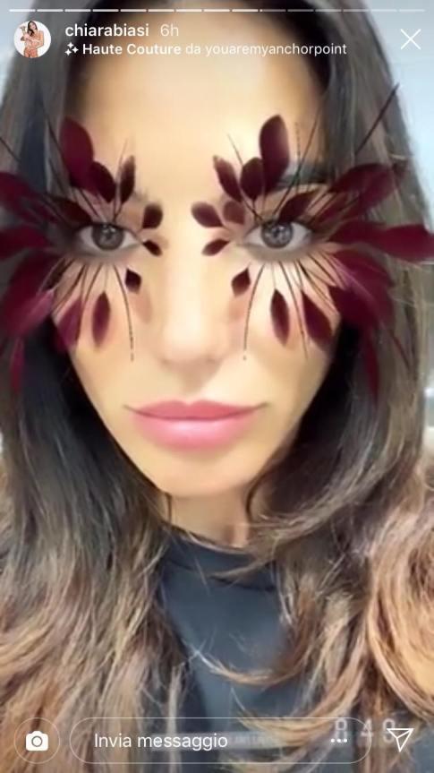 filtro chiara basi piume instagram
