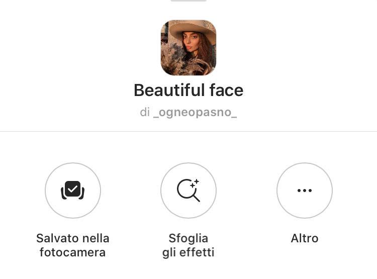 filtro bellezza instagram