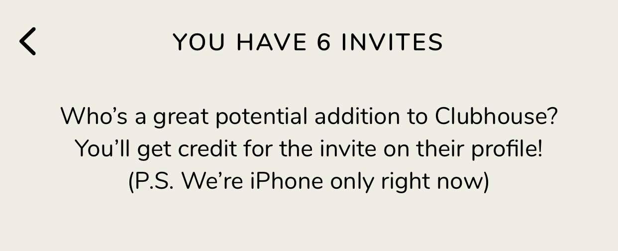 club house inviti per gli utenti