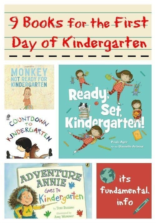9 Books for the First Day of Kindergarten