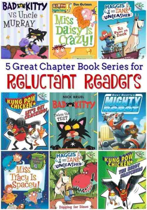 5 Great Chapter Book Series for Reluctant Readers