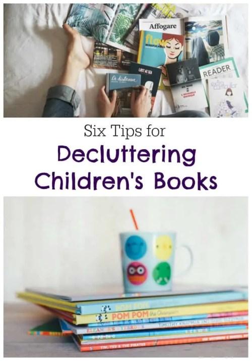 6 Tips for Decluttering Children's Books