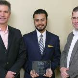 ITS Scholarship Committee Chair Keary Lord, Scholarship WInner Anirban Chatterjee and ITS Georgia President Mike Holt