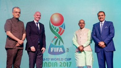 Photo of Official FIFA world cup emblem for the U-17 category released in Goa