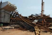 Scaffolding collapse near Kesarval